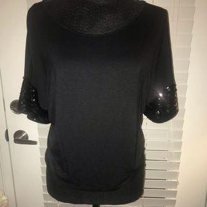 Top sequin sleeves